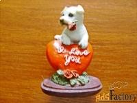 сувенир - собачка i love you.