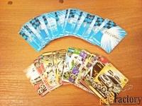 Карточки для коллекции \Супер гонки\ и др. 110 шт.