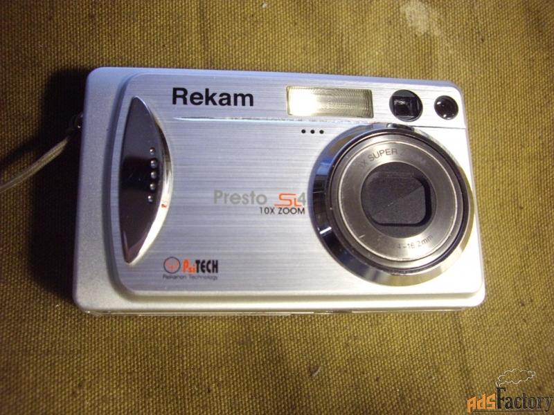 цифровой фотоаппарат   «rekam presto-sl4 slim»    канада