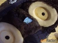 шлемофон летчика   натуральная кожа, овчина