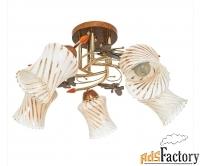 люстра на 5 ламп с бабочками