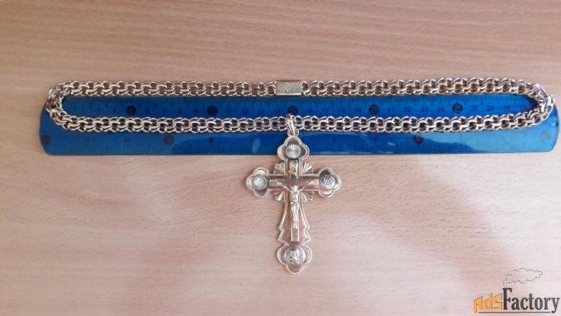 предлогаю золотую цепочку с крестиком