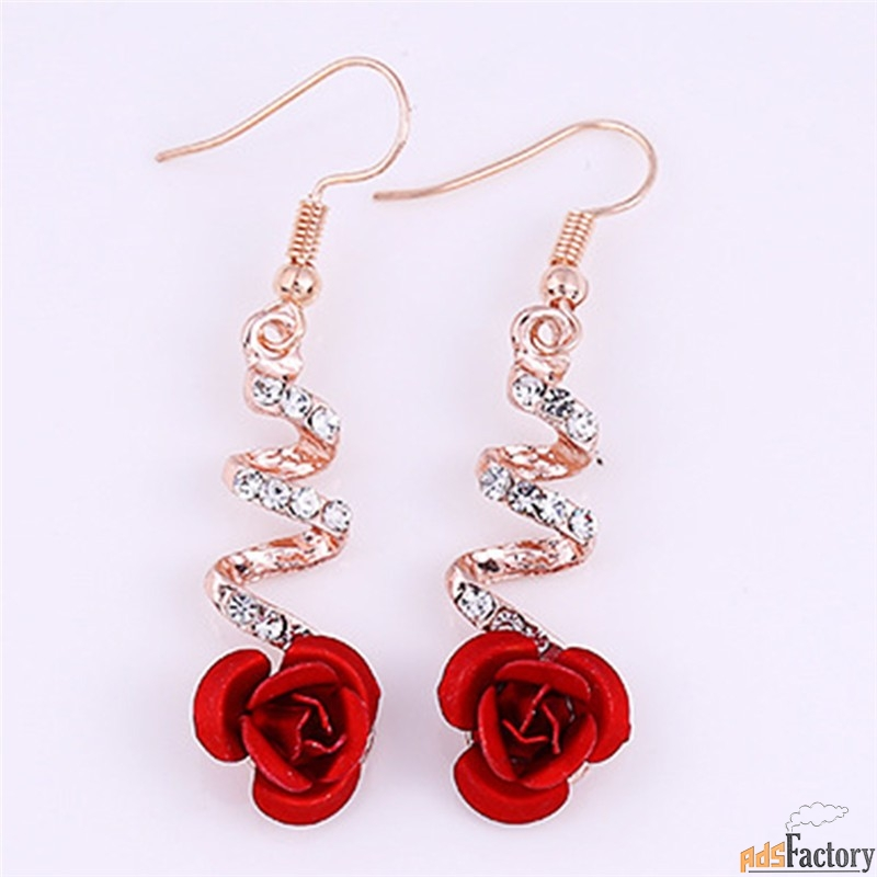 серьги в виде розы