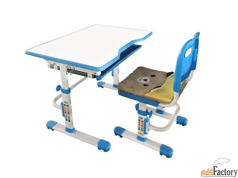 растущая парта и стул с чехлом rifforma set-10