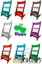 детский растущий регулируемый стул hippo