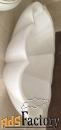 раковина из белого мрамора с лепестками для ванной комнаты