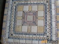 напольные панно из натурального камня травертина мрамора