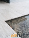 камень травертин белый состаренный из турции