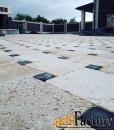 брусчатка из природного камня на террасах и дорожках с монтажом