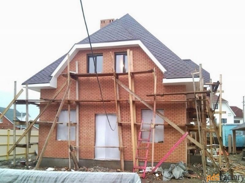 строительство домов, коттеджей из пено-газобетона, кирпича , бруса