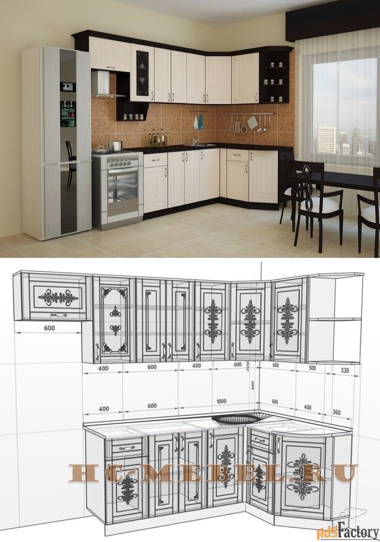 кухня беларусь-1 угловая, левая, правая