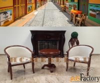 чайная группа а-10. чайные кресла с подлокотниками и чайный столик