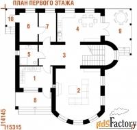 проект загородного дома в-520