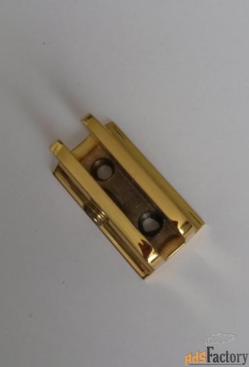 Держатель  для  полок  стеклянных 5-6 мм, отделка золотой глянец
