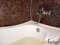уголок на ванну, герметизация.