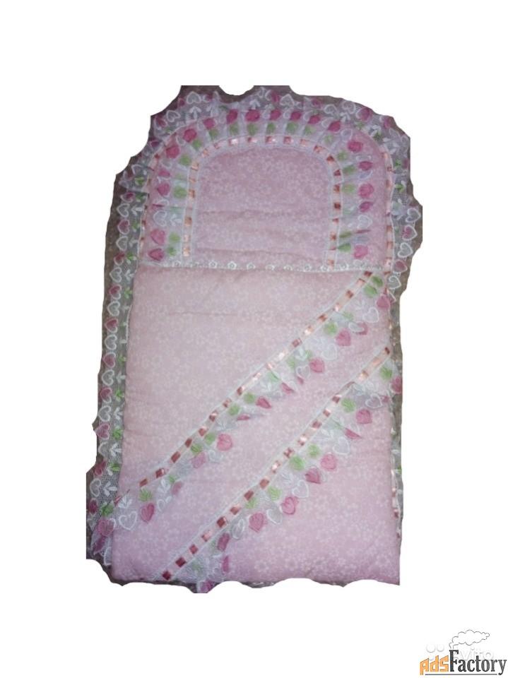 конверт х/б утепленный для новорожденных