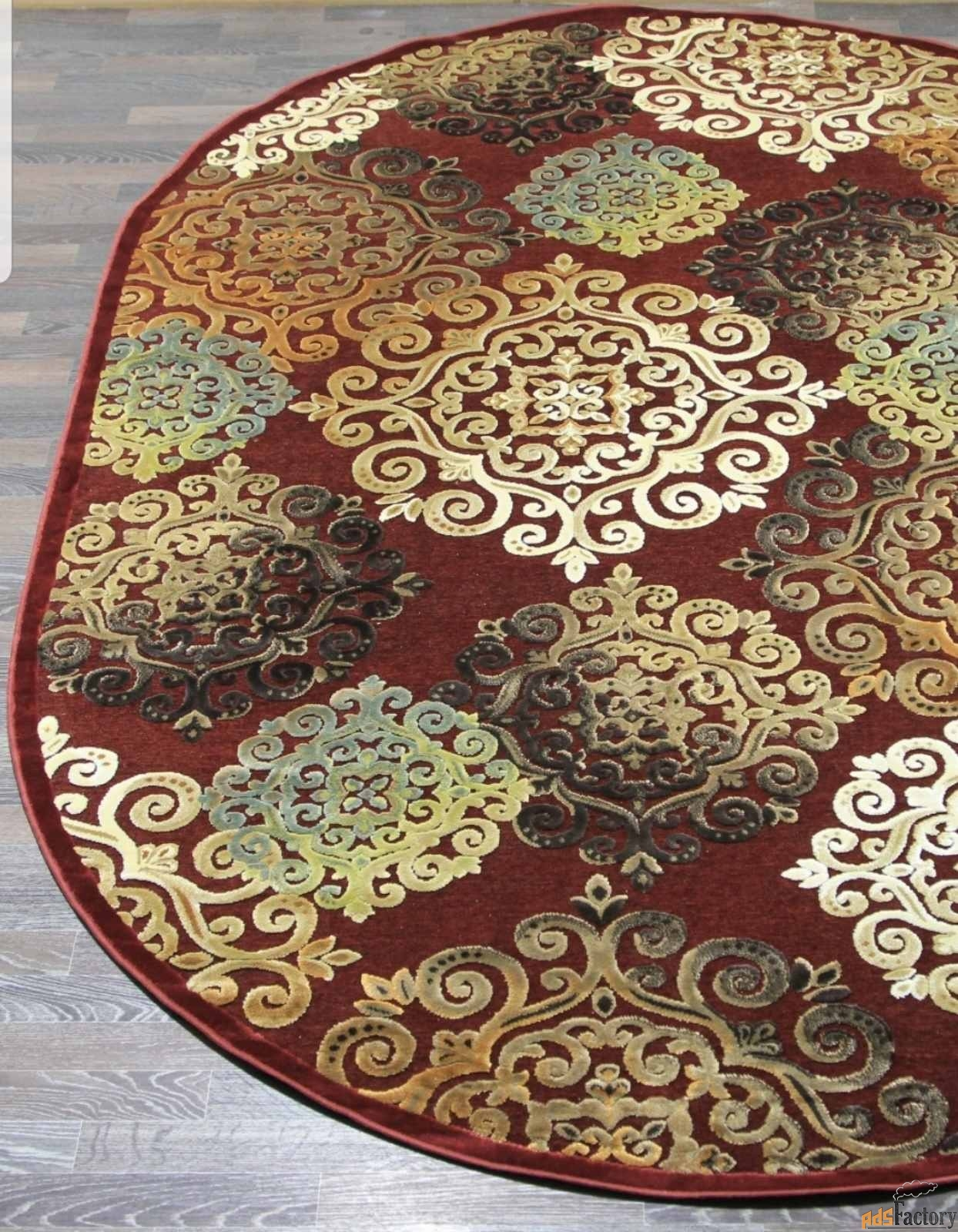 бельгийские ковры из вискозы новые овальные и прямоугольные