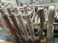 резные столбы для лестниц