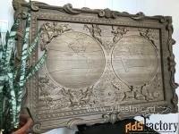резные картины из дерева, панно на стену.