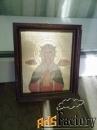 икона святой людмилы из храма в виноградах, прага.