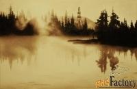 картина нефтью «буровая у озера»