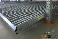 гравитационные стеллажи для коробочного хранения