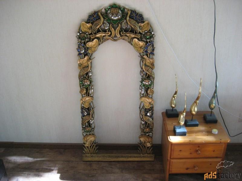 рама для зеркала декор буддизм ваза мандала драконы
