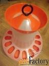 кормушка для цыплят под банку со съемным ограничительным кольцом
