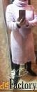 платье трикотажное. теплое. светло-розовое