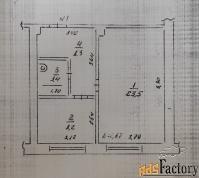 1 - комн.  квартира, 43,4 м², 1/2 эт.