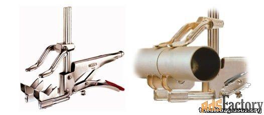 струбцина с захватом для зажима труб grzro