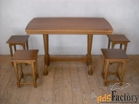 продам комплект стол + табуретки из массива бука.