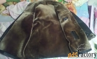 натуральная дублёнка мужская marcon италия чёрная
