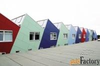 фасадный строительный облицовочный пластик компакт hpl фасадные панели