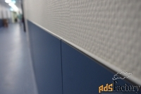 HPL панели для стен чистых помещений, путей эвакуации, интерьеров КМ1