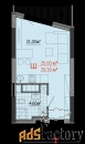 1 - комн.  квартира, 23,7 м², 21/25 эт.