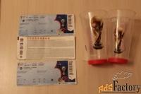 продам сувениры футбольные тунис и билеты, стаканы.