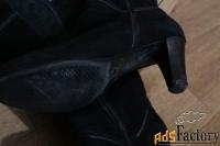 зимние сапоги. натуральная замша. размер 37-38