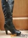 Сапоги кожаные женские демисезон размер 37 на 38