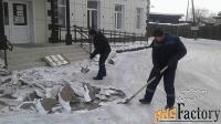 уборка и вывоз мусора, снега. ежедневно.
