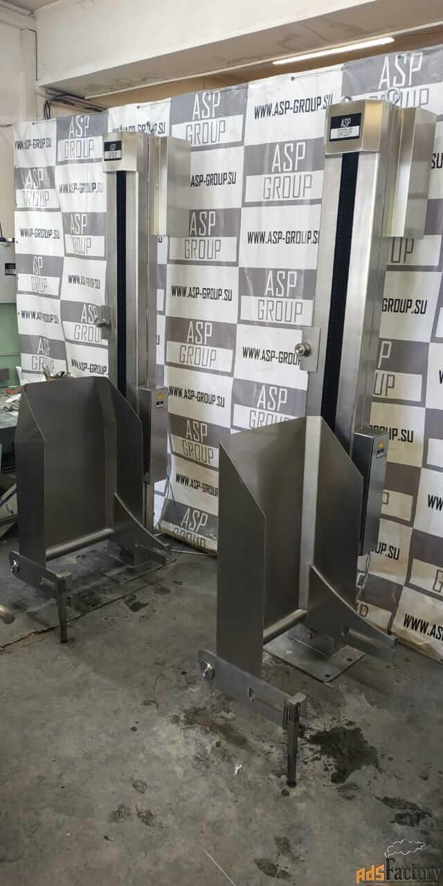 Столбовой мачтовый подъёмник-опрокидыватель, стационарный