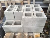 блок стеновой 390х190х190 гладкий серый