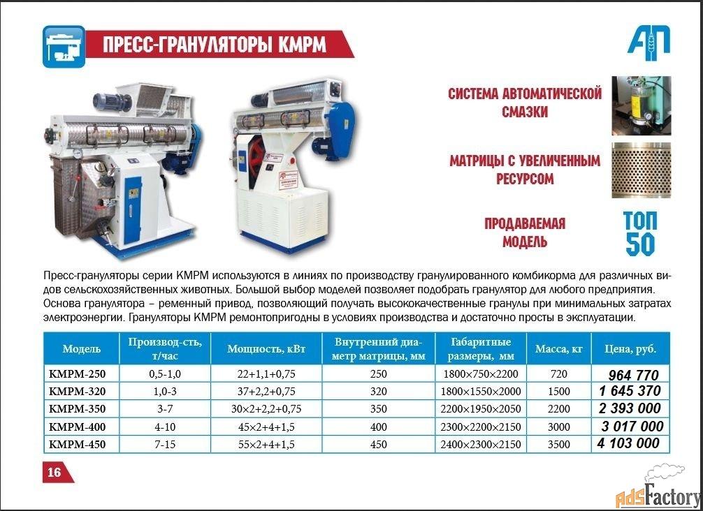 Гранулятор KMPM-320 3 т