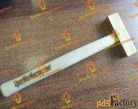 латунный молоток искробезопасный 0,250 кг (250гр) с деревянной ручкой