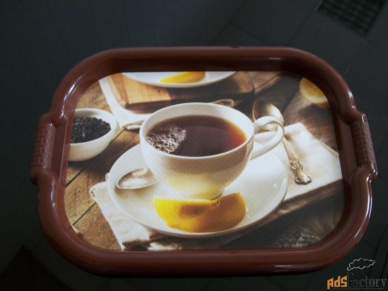 поднос малый чайная пара коричневый 50 х 36 х 2 см 1/15