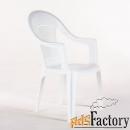 кресло пластиковое  венеция белое 41 х 55 х 91 см 1/40
