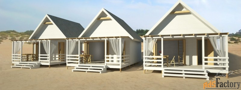 изготавливаем пляжные домики