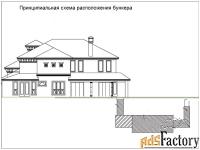 строительство частного бункера. стены от одного метра