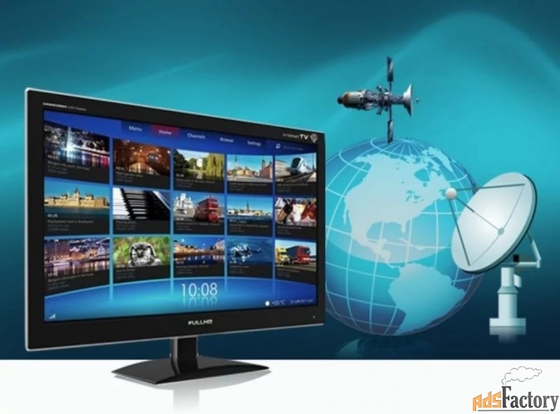 телевидение цифровое dvb-2 , спутниковое ,  iptv