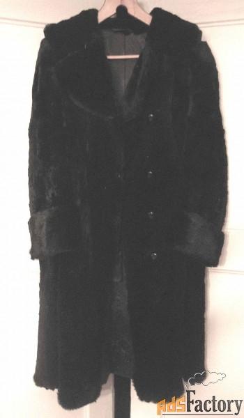 шуба женская стриженый кролик